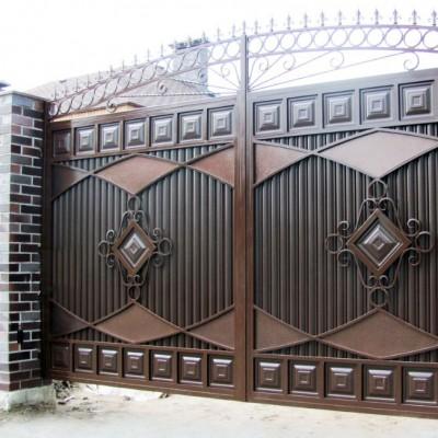 Ворота и калитки распашные на заказ (5)
