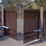Ворота распашные  из металлического штакетника (металлоштакетника)